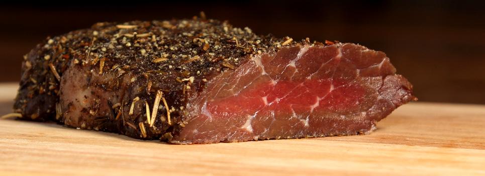 La saveur d´une viande rouge relevée de poivre et  d´herbes de provence!