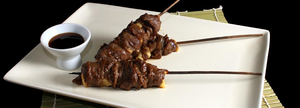 Du boeuf, du Fromage et une sauce tout droit venue du Japon, voilà le secret des Yakiroti